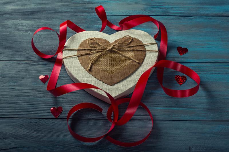 embalagem para doces em formato de coração