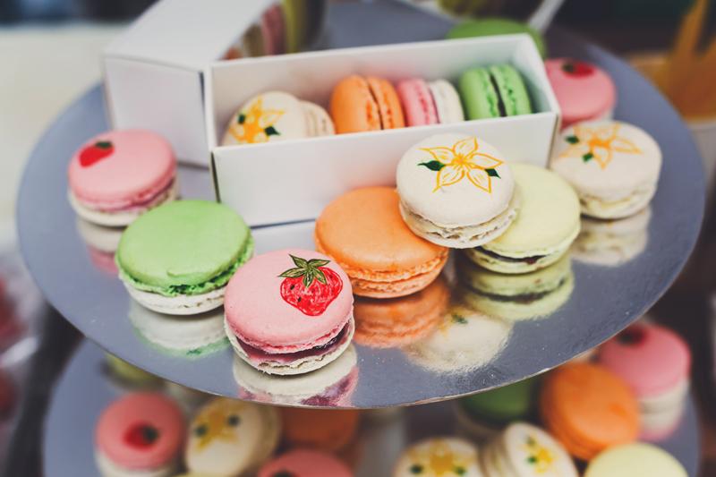 conjunto de embalagens de uma cor só para doces