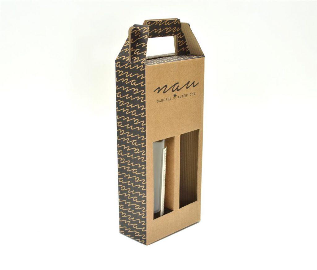 embalagem em formato de maleta